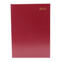 A5 Day/Page 2018 Burgundy Desk Diary KFA51BG18