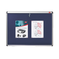 Nobo Lockable 1265x965mm Blue Visual Insert Board 1902049