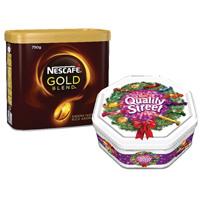 Nescafe Gold Blend 750g Buy 2 Get FOC Quality Streets 1.3kg Tin NL819827