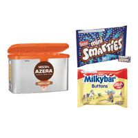 Nescafe Azera 500g Buy 2 Get Free Smarties Minis 260g and Milkybar Buttons Treat Size 189g NL819829