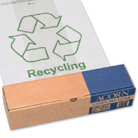 Acorn Green Bin Heavy Duty Clear/Printed Recycling Bin Liner (Pack of 50) 402573