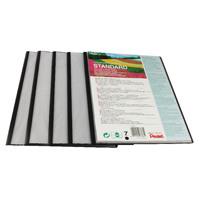 Pentel Recycology A4 Presentation File 7 Pocket Black (Pack of 5) DCP1407A