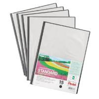 Pentel Recycology A4 Presentation File 15 Pocket Black (Pack of 5) DCP3415A