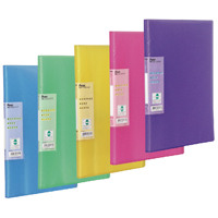 Pentel Recycology Vivid A4 30 Pocket Assorted Display Book (Pack of 5) DCF343/MIX