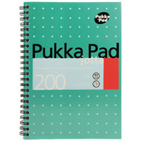 Pukka Jotta A5 Notebook Wirebound Feint Ruled 200 Pages (Pack of 3) JM021