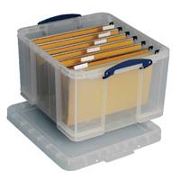 Really Useful Clear 42L Plastic Storage Box 520x440x310mm HBC