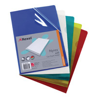 Rexel Nyrex A4 Assorted Cut Flush Folders (Pack of 25) 12161AS