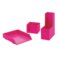 Rexel Joy Desk Accessory Bundle Pretty Pink 2104200