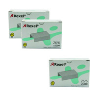 Rexel Staples No. 56 6mm (3 Packs of 5000) RX810205