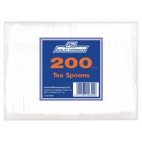Plastic Teaspoons White (Pack of 200) 0245