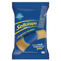 Sellotape 24mm x 33m Golden Tape Pack of 6 1443254