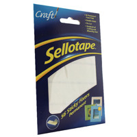 Sellotape Sticky Fixers 12 x 25mm Permanent Pack of 56 1445423