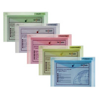 Snopake Polyfile Classic Wallet Foolscap Assorted Pack of 5 10087