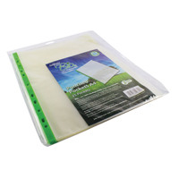 Snopake Bio? A4 Punched Pocket Clear (Pack of 25) 15439