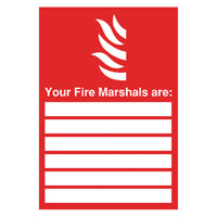 Safety Sign Your Fire Marshals A4 PVC FR09850R