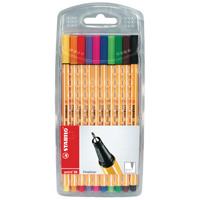 STABILO point 88 Fineliner Pens Assorted 8810