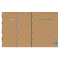 Silvine Premium Recycled Kraft Twin Wire A5 Notebook 80 Pages KRTWA5AC