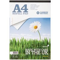 Silvine Carbon Neutral A4 Refill Pad 120 Pages Ruled with Margin R301