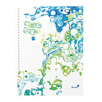 Silvine Surf Twin Wire A4 Notebook Plus 160 Pages Assorted TWA4SF