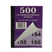 Cloakroom and Raffle Tickets 1-500 (Pack of 12) 00276