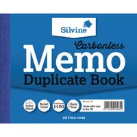 Silvine Carbonless Duplicate Memo Book Ruled Feint Blue 102x127mm (Pack of 5) 703-P