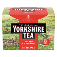 Yorkshire Tea One Cup String and Tag Tea Bags (Pack of 100) 2680UK