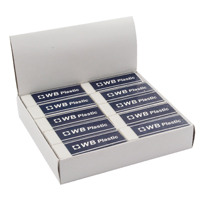 Whitebox White Pencil Erasers (Pack of 20) WX01696