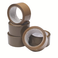 Buff Packaging Tape 50 mmx66m (Pack of 6) WX27010