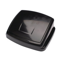 2Work Swing Bin Lid 30 Litre Black 2W02394