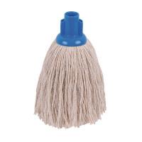 2Work 12oz Twine Rough Socket Mop Blue (Pack of 10) PJTB1210I