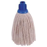 2Work 12oz PY Smooth Socket Mop Blue (Pack of 10) PJYB1210I