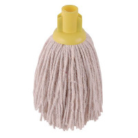 2Work 12oz PY Smooth Socket Mop Yellow (Pack of 10) PJYY2320I