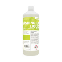 2Work Washing Up Liquid Lemon 1 Litre 2W04589