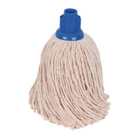 2Work 14oz PY Smooth Socket Mop Blue Pack of 10 PJYB1410I