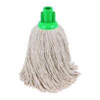 2Work 14oz Twine Rough Socket Mop Green (Pack of 10) PJTG1410I
