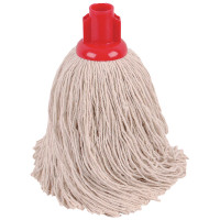 2Work 14oz Twine Rough Socket Mop Red Pack of 10 PJTR1410I
