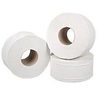 2Work 2-Ply Mini Jumbo Toilet Roll White (Pack of 12) J27200VW