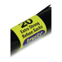 2Work Black Medium Duty Extra Strong Refuse Sacks (Pack of 600) 2W81012