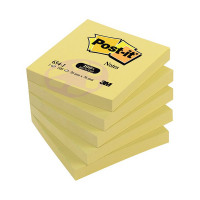 Post-it Notes Recycled 76 x 76mm Canary Yellow (Pack of 12) 654-1Y
