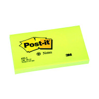 Post-it Notes Recycled 76 x 127mm Canary Yellow (Pack of 12) 655-1Y