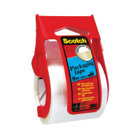 Scotch Clear Reinforced Packaging Tape 50mmx9m With Easy Start Dispenser X.5009D