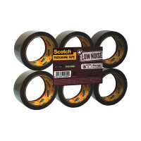 Scotch Packaging Tape Low Noise 48mm x 66m Brown (Pack of 6) 3120B4866
