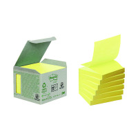 Post-it Note Recycled Z-Notes 76 x 76mm Canary Yellow (Pack of 6) R330-1B