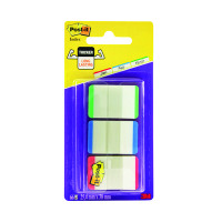 Post-it Red/Green/Blue Strong Index Colour Tips (Pack of 3x22) 686L-GBR