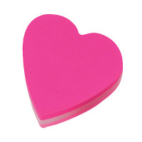 Post-it Heart 70 x 70mm Pink Notes (Pack of 12) 2007H