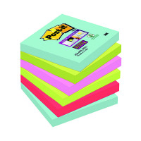 Post-it Super Sticky Notes 76x76mm Miami (Pack of 6) 654-6SS-MIA