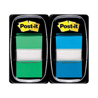Post-it Index 1 Inch Green and Blue (Pack of 2x50) 680-GB2