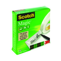 Scotch Magic Tape 810 12mm x 66m (Pack of 2) 8101266