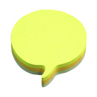 Post-it Notes 70 x 70mm Speech Bubble Rainbow (Pack of 12) 3M37917