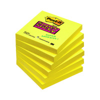 Post-it Notes Super Sticky 76 x 76mm Ultra Yellow (Pack of 6) 654-S6